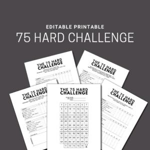 75 hard challenge printable