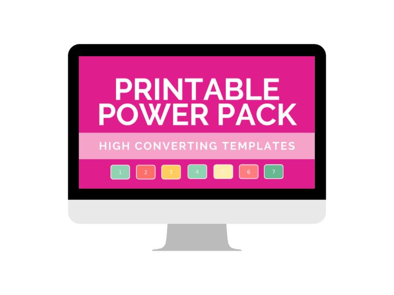 printable power pack